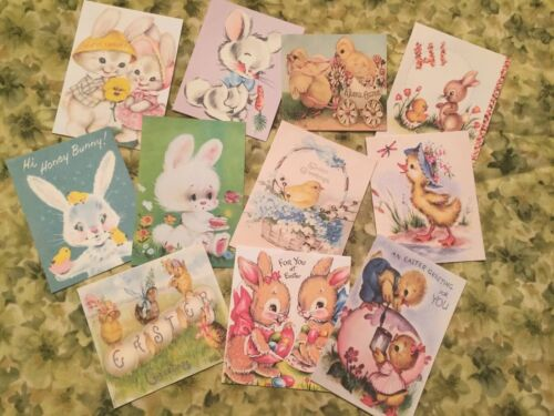 Vintage Easter-CARDS//DIE CUTS//Gift Tags 44 Piece-11 Cute Styles