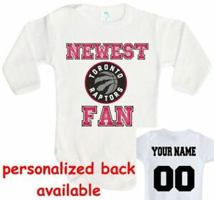 check out eab64 2e646 Details about Baby bodysuit Newest fan Toronto Raptors basketball One Piece  jersey personal