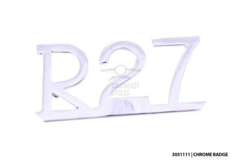 BMW R27 chrome badge emblem