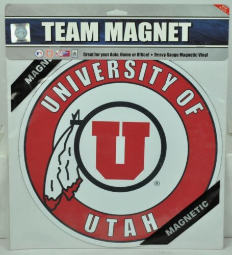 NCAA Utah Utes Jumbo Magnet Sport Refrigerator Car Decoration Fan Indoor Outdoor