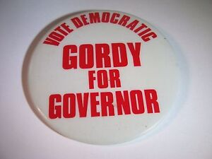 Vintage-Political-Pin-Button-Vote-Democratic-Gordy-for-Governor