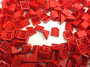 LEGO 4286 NEW 1x3 RED /& WHITE Slope Roof Tiles 50 Pieces Per Order