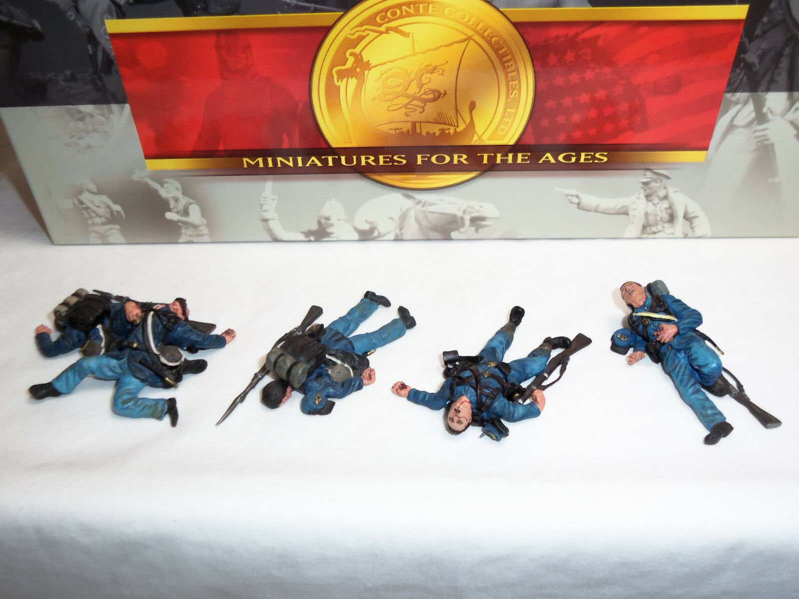 CONTE ACW57170 UNION INFANTRY DEAD LYING ON FLOOR METAL TOY SOLDIER FIGURE SET