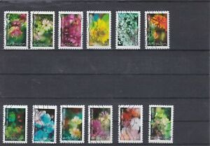 FRANCE-2019-FLORE-ECLOSION-SERIE-COMPLETE-DE-12-TIMBRES-AUTOADHESIFS-OBLITERES