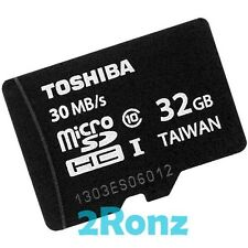 Toshiba 32GB 32G 30MB/s Class 10 Micro SDHC SD Flash Card TF Mobile Tablet UHS-I