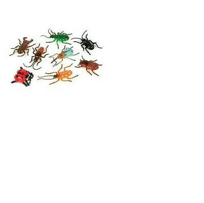 ~ 12 ~ Plastic Bugs / Insects ~ 2 to 3 Inch ~ New ~ FREE USA SHIPPING