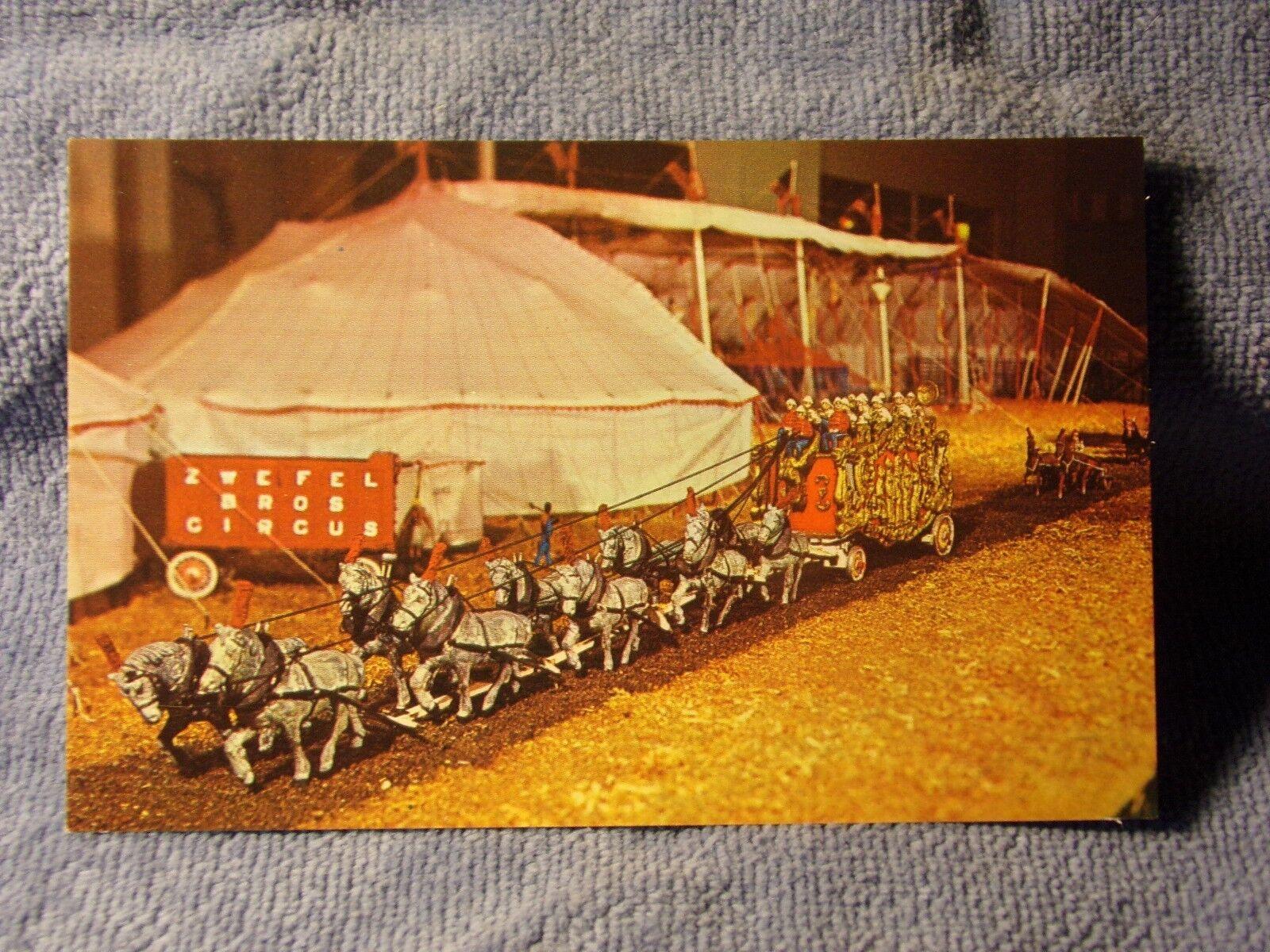 Vintage Postcard John Zweifel S Miniature Circus Band Wagon Baraboo Wisconsin Ebay