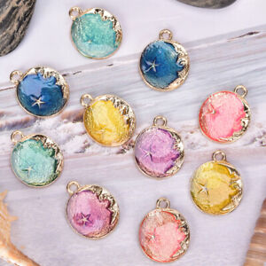 10Pcs-Set-Enamel-Moon-Star-Charms-Pendant-Jewelry-Findings-DIY-Craft-Making-US