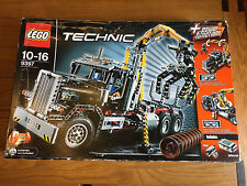 1x LEGO Technic 9397 Logging Truck. Wood transporter SOME PARTS MISSING