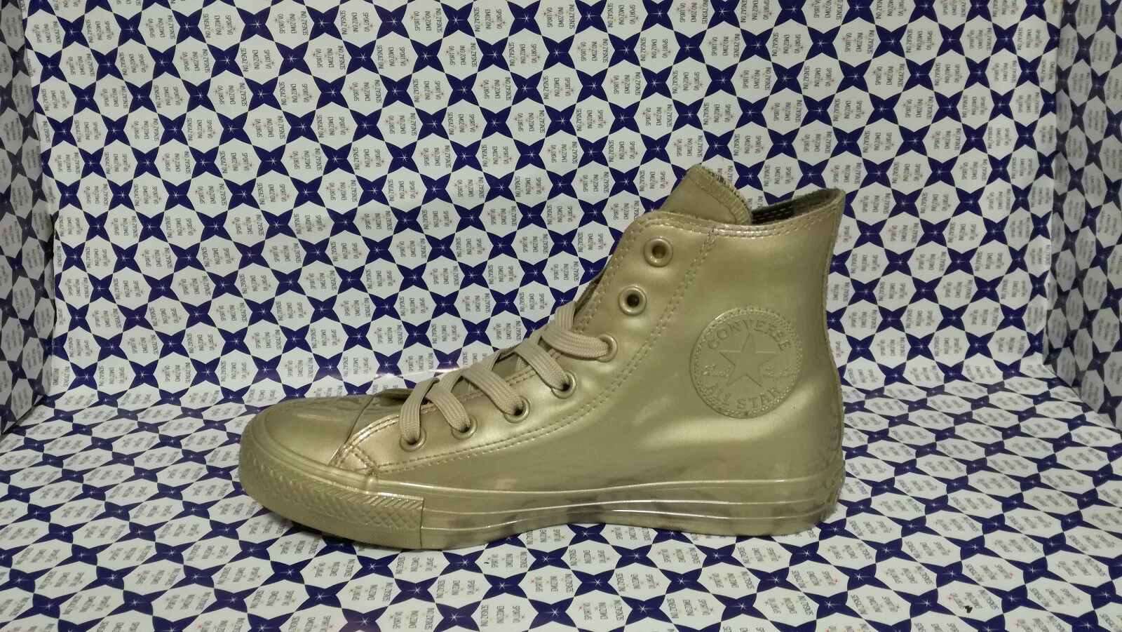 Zapatos  Converse All Star Hi Metallic Oro Rubber Gomma 553269C Oro Oro Metallic 34f31a