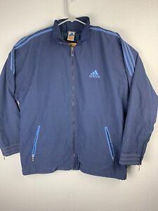 Adidas-Vintage-Windbreaker-Full-Zip-Jacket-Mens-XL-Blue