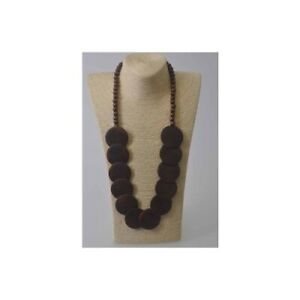 Ladies-Wooden-Circle-Necklace-Fashion-Brown