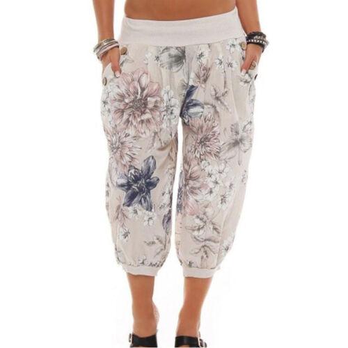 Women/'s Loose Hippie Yoga Palazzo Bohemia Aladdin Wide Leg Causal Harem Trousers