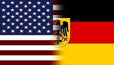 American Germany Flag Decal Eagle Crest German Deutschland