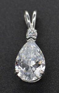 Created-Pear-and-Round-Cut-Diamond-Pendant-2-00ct-14k-White-Gold-PM15