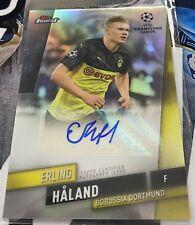 Erling Haaland Autograph 2020 TOPPS FINEST UEFA CHAMPIONS LEAGUE Rc Auto SSP