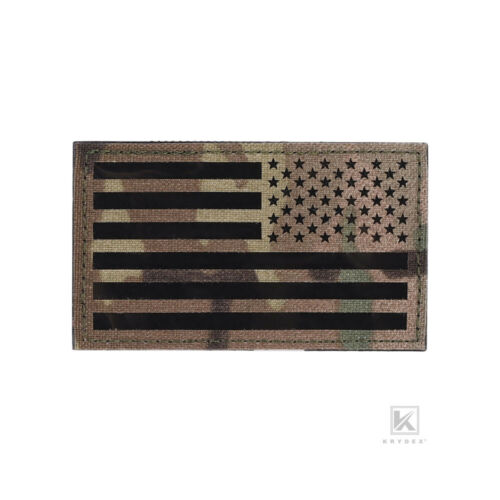 KRYDEX American Flag Patches USA Military Army Identifier Badges w// Hook Back