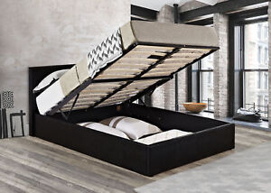 Awe Inspiring Details About Double Ottoman Bed Lift Up Storage Bed Black Mattress Optional Caspian Ibusinesslaw Wood Chair Design Ideas Ibusinesslaworg