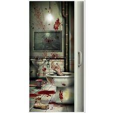 Creepy Toilet Door Cover - 152 x 76 cm - Halloween Party Wall Decoration