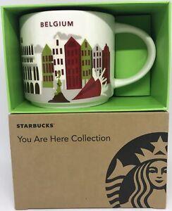 Starbucks You Are Here Collection Belgique Céramique Café Tasse Neuf Avec Boîte