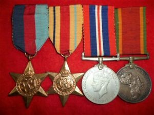 WW2-Africa-Star-Medal-Group-of-4-to-Black-all-medals-named-SA-style