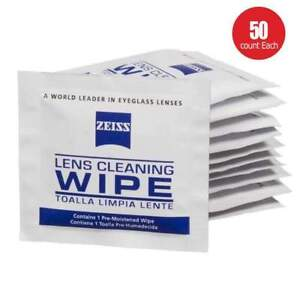 Zeiss Pre-Moistened Lens Cloths Wipes 50 Ct Glasses Camera Phone Cleaning New