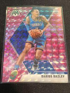 2019-20 Mosaic Darius Bazley Pink Camo Prizm Rookie Card RC Thunder Panini SP