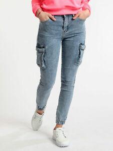 spargimento contrabbando demolire  Jeans cargo con polsini donna | eBay
