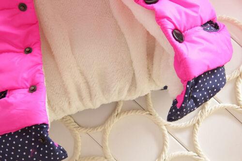 Toddler Kids Girl Mickey Minnie Hooded Coat Winter Warm Thicken Jacket Outerwear