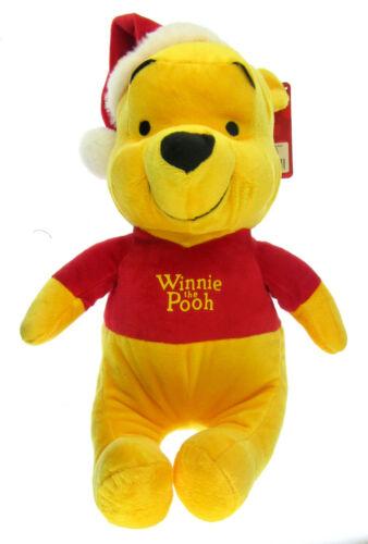 Disney Winnie The Pooh Grande 43.2cm Peluche Con Santa Cappello Nuovo Tag UK