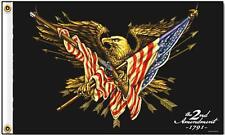 DELUXE 2ND AMENDMENT EAGLE FLAG wall banner #536 BIKER 3x5 sign flags gun laws