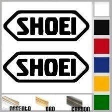 coppia adesivi sponsor sticker SHOEI prespaziato,auto,moto,casco 9,5cm