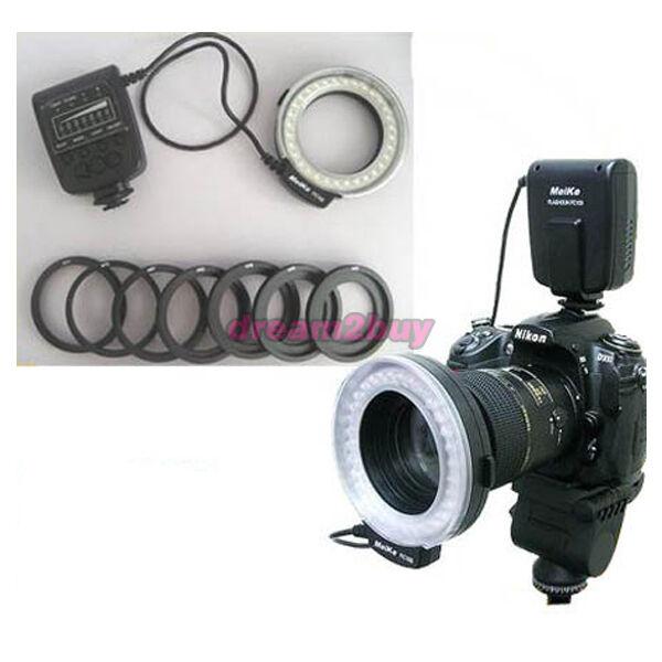 Macro Ring Flash LED Light for Nikon D3100 D7000 Sony
