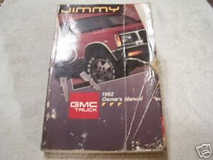 look 1992 gmc jimmy owners manual 92 ebay rh ebay com 1989 GMC Jimmy 2016 GMC Jimmy