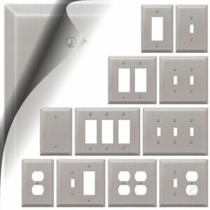 Oversized Brushed Nickel Switch Plate Cover Toggle Rocker