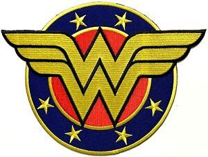 Wonder Woman Shield WW Logo Extra-Large Patch Memorabilia Oversized Patches