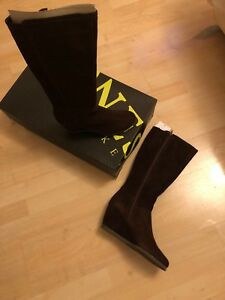 Bootmakers Boots 7 Jones High Knee Wedge Genuine Suede New Heel H4xnP5g