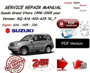 suzuki grand vitara xl 7 workshop service manual 1998 2005 year ebay rh ebay co uk 2004 Suzuki XL7 2001 Suzuki XL7