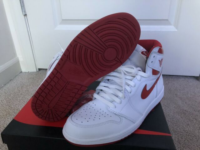 Nike Air Jordan 1 Retro High OG  Metallic Red  White 555088-103 Size ... 06801d1211