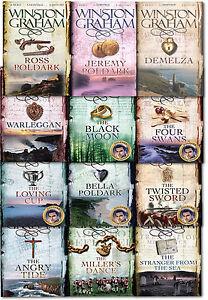 Winston-Graham-Poldark-Series-12-Books-Collection-Set-Novel-of-Cornwall