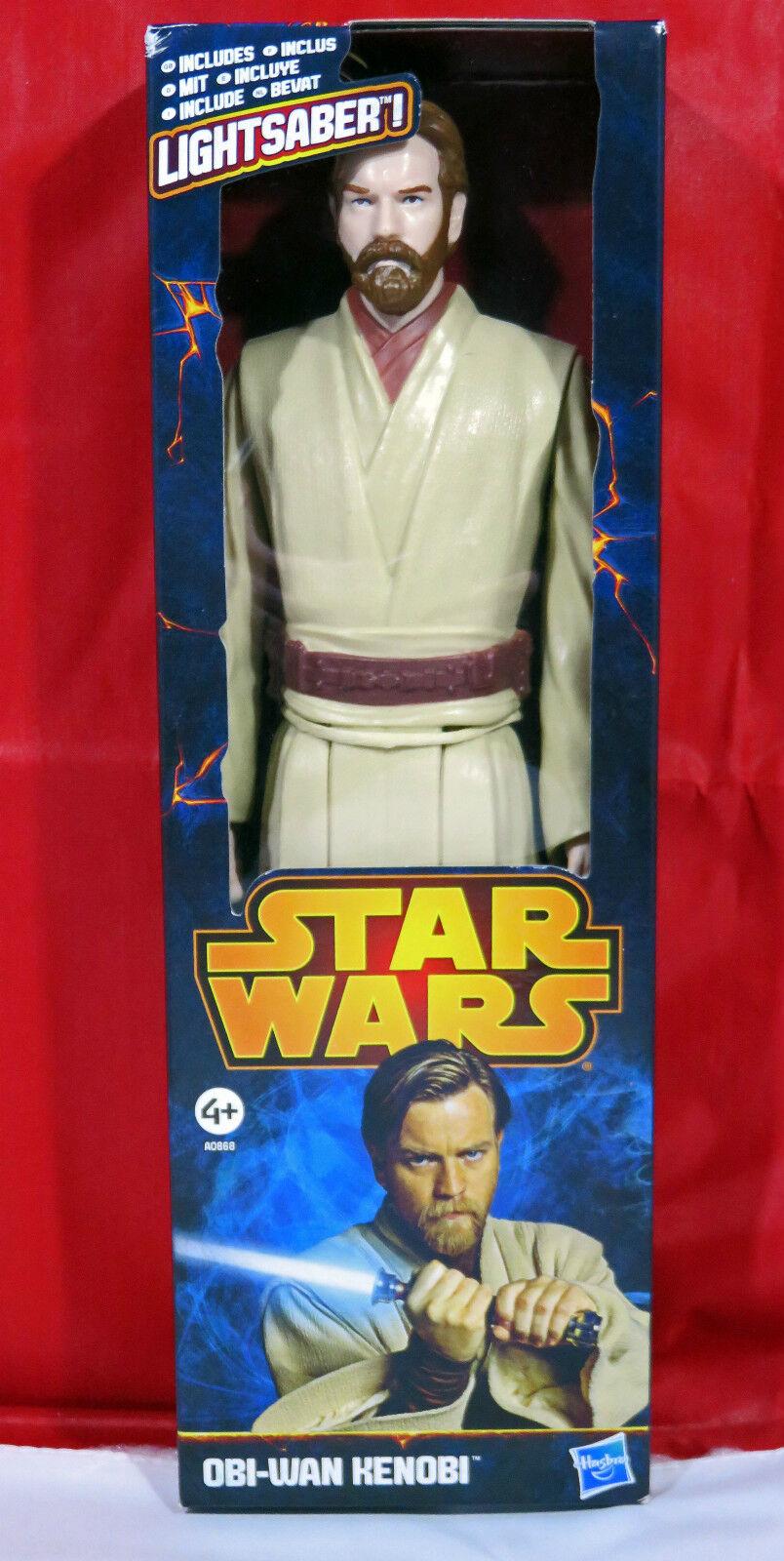 STAR WARS 12'' Inch Obi-Wan Kenobi Action Figure & Lightsaber Hasbro A0868 NMIB