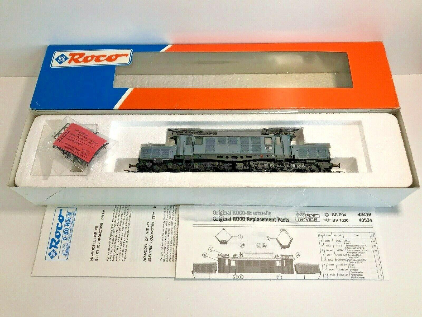 Roco 43416 - Locomotive électrique BR E94 003 DRG Crocodile DB HO, état neuf