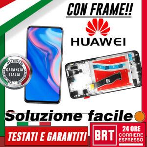 DISPLAY-LCD-TOUCH-SCREEN-FRAME-PER-HUAWEI-P-SMART-Z-STK-LX1-LX2-VETRO-NERO-BRT