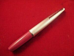 Vintage-Platinum-Silver-amp-Rose-color-pocket-fountain-pen-14k-EF-gold-nib-Japan