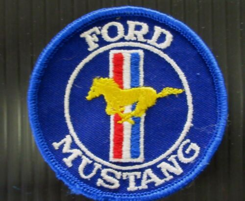 """New Vintage Embroidered Vintage  Ford Mustang  3/"""" x 3/""""  Patch NOS 1970-1980"""