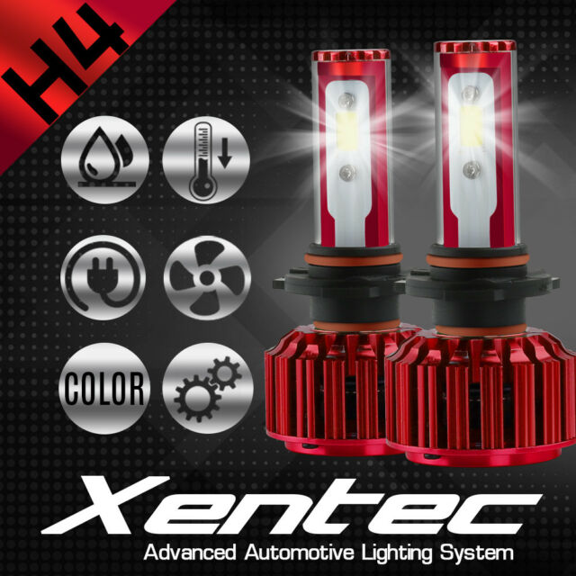 XENTEC LED HID Headlight Conversion Kit H4 9003 6000K For