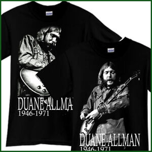 DUANE-ALLMAN-BROTHERS-Rock-Band-Tribute-Black-T-Shirt-TShirt-Tee-Size-S-3XL