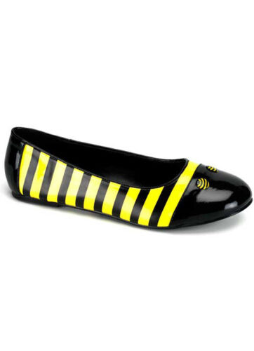 Brand New Sweet Honey Bee Adult Ballet Flat Shoes