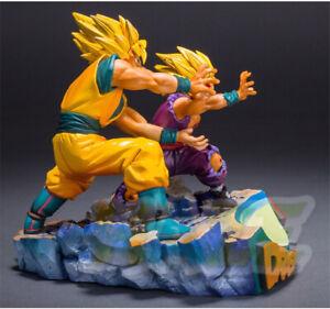 Dragon-Ball-Son-Goku-amp-Son-Gohan-KaMeHaMeHa-PVC-Figure-Model-Neu