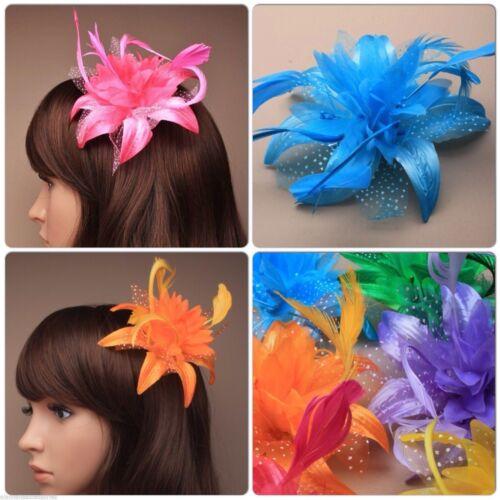 Plumes Fleur Fascinator sur un Bec Fourchue Pince à cheveux avec broche PIN